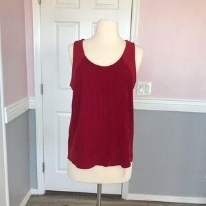 rag and bone sleeveless red top M